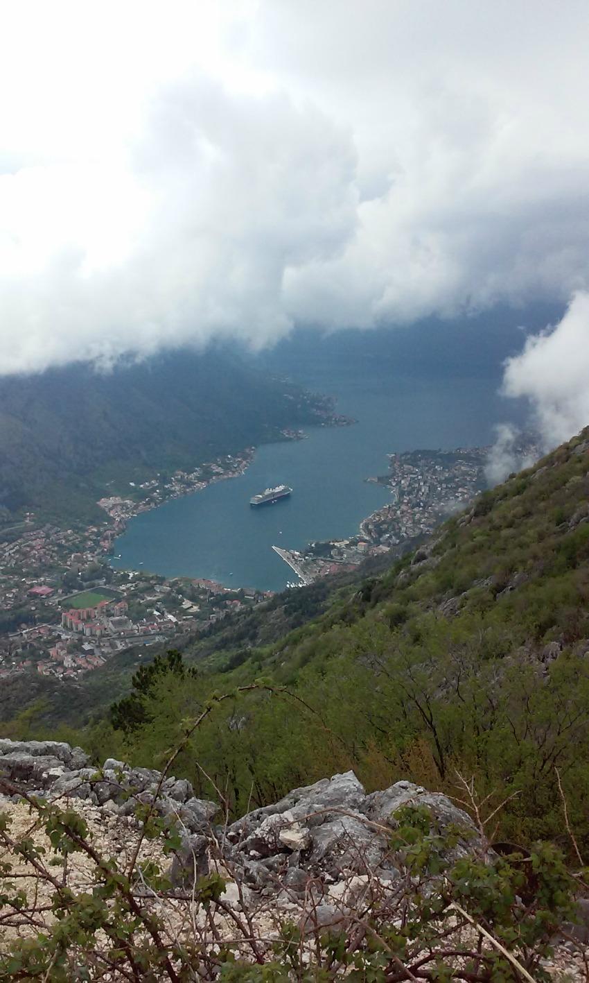 Kotor bay Montenegro cruise ship