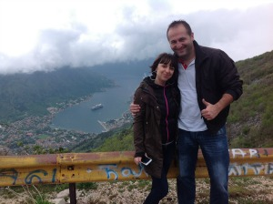 Mladen and I on the way to Lovcen