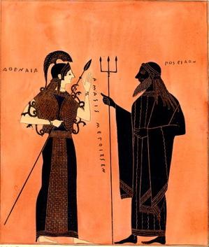goddess athena myth, poseidon and athena myth