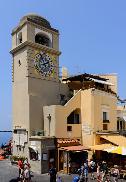 Capri town clock tower