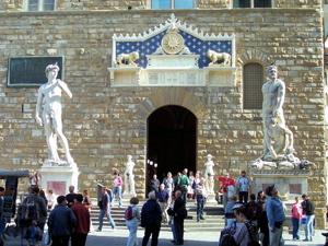 palazzo vecchio david, piazza della signoria david