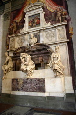 michelangelo's tomb image, santa croce basilica interior photos