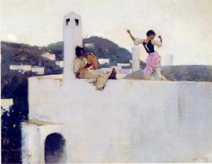 john singer sargent capri painting