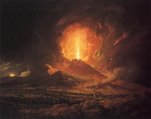 vesuvius destruction image, mount vesuvius, mt vesuvius painting