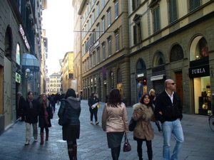 via calzaiuoli image, via calzaiuoli florence photo