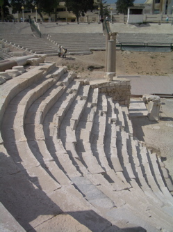 alexandria greek amphitheatre, greco-roman theatre photo alexandria