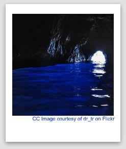 blue grotto image, grotta azzura capri