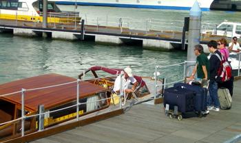 water taxi, venice transportation, stazione marittima