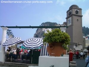 capri clock tower image, capri piazzetta image