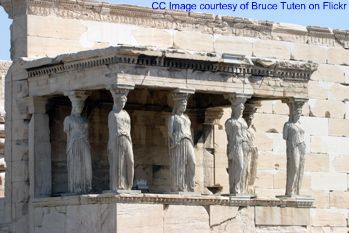 caryatides photo, erechteum pictures, athens images