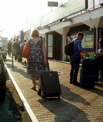 from civitavecchia port to the train station