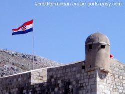 croatian flag image, dubrovnik walls image