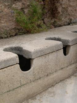ephesus latrines image, ephesus public toilets