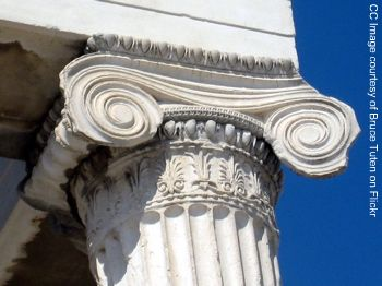 ionic capitel photo, ancient greece architecture, athens acropolis pictures