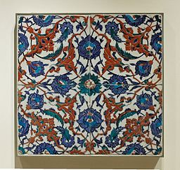 iznik tiles image, turkish ceramics