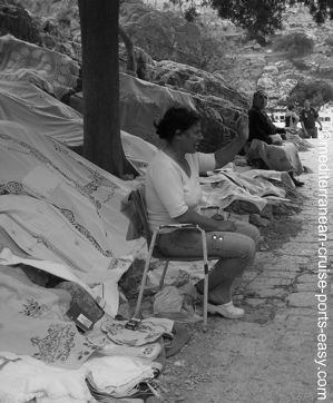lindos acropolis tablecloths