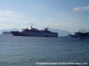 mykonos port image, mykonos cruise, cruise to mykonos