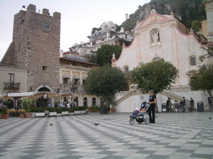 piazza aprile taormina photo, taormina attractions photos