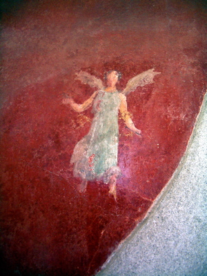 pompeii red image, pompeii fresco image, pompeii fresco photos