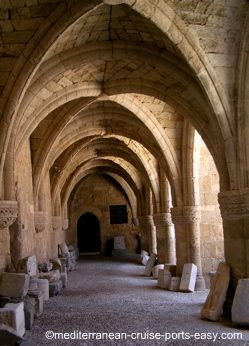 rhodes archaeological museum cloister