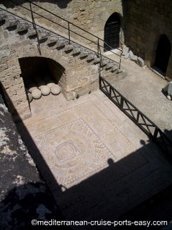 rhodes mosaic photo, rodos mosaic picture
