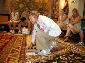 turkish rug show, turkish rug demonstration