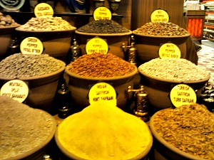 turkish spices, turkish market, grand bazaar