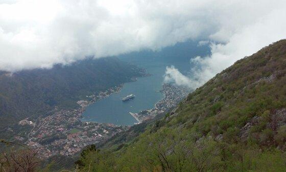 Kotor Montenegro bay from Lovcen road