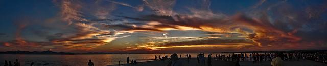 zadar sunset, zadar riva, zadar promenade