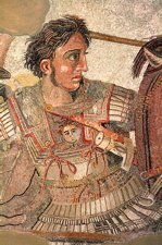 alexander the great mosaic, house of the faun mosaics, alexander the great pompeii