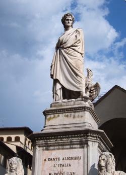 dante statue image, dante santa croce