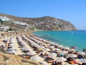 mykonos beach, mykonos photos, mykonos elia beach