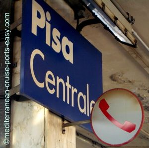 pisa train station, getting from livorno to pisa by train