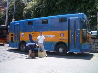 sorrento local bus, sorrento marina piccola, sorrento pictures