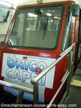 capri funicular, capri town, capri transportation