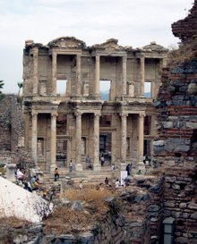 celsus library image, ephesus library image