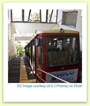 funicular capri, funicular image, capri tram
