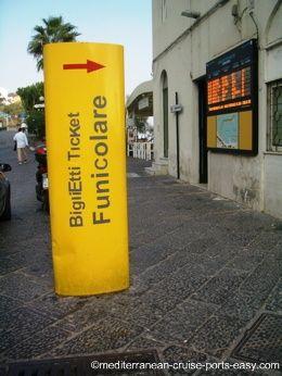 funicolare tickets capri, getting around capri