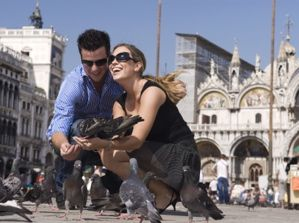piazza san marco, st marks square, venice, pigeons