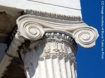 ionic capitel photo, ancient greece architecture, athens acropolis pictures