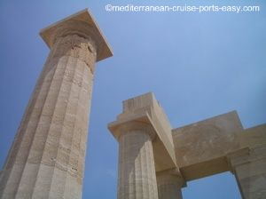 lindos temple of athena lindia photo, lindos photograph