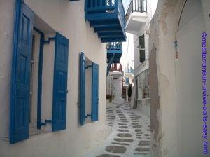 mykonos village photo, mykonos chora, mykonos hora