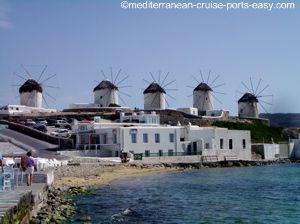 mykonos windmills photo, mykonos attractions images