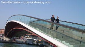 calatrava bridge photo, venice calatrava image, new bridge venice