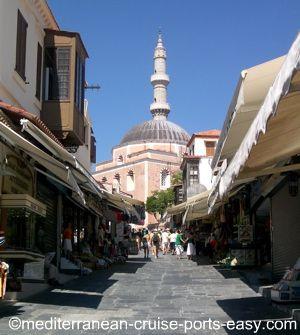 photos of rhodes, socratus street rhodes greece