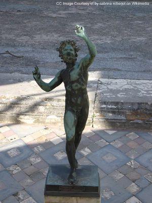 faun pompeii statue, statue of the faun photo, pompeii images, pompeii photo