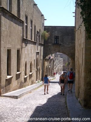street of the knights, rodi, rhodos, hospitallers of rhodes