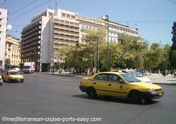 athens transportation, how to get from pireus to athens, athens taxi