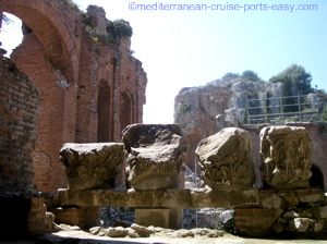 taormina photos, taormina monuments, taormina amphitheatre photos