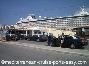 rhodes taxi, where to get a rhodes taxi, rhodes cruise dock